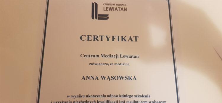 Dołączyłam do grona mediatorów Centrum Mediacji LEWIATAN
